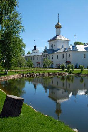 Saint Nicholas church in ancient Tolga convent near the city of Yaroslavl (Russia) in the spring. photo