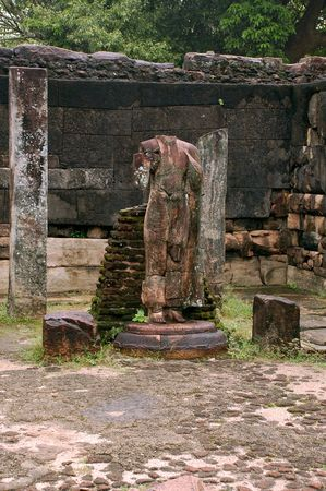 Ruins of ancient town of Polonnaruwa in Sri Lanka Stock Photo - 6615811