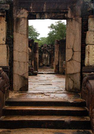 adoration: Ruins of ancient town of Polonnaruwa in Sri Lanka