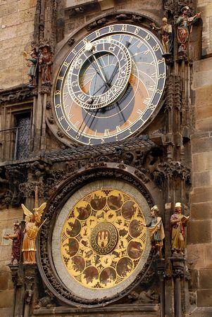 Orloy astronomical clock in Prague in Czech Republic Stock Photo