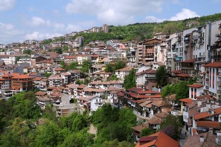 View of the city of Veliko Tarnovo in Bulgaria photo