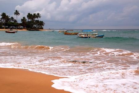 Hikkaduwa beach in the south of Sri Lanka