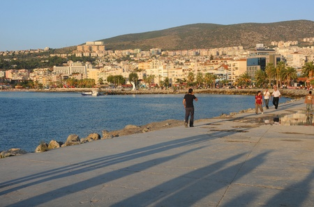 View of the residential area and the harbor in the town of Kusadasi Stock Photo - 13062486