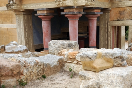 Fragment of ancient Knossos Minoan palace on Greek Island of Crete Stock Photo - 14626782