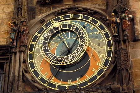 Orloj astronomical clock in Prague in Czech Republic photo