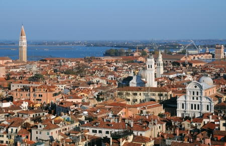 View of Venice from Campanile of St. Marks Basilica photo