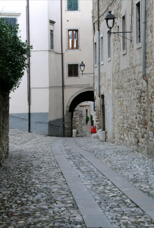 Residential area in the old residential area of Cividale del Friuli in Italy Stock Photo - 16762409