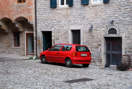 Residential area in the old residential area of Cividale del Friuli in Italy Stock Photo - 16816971