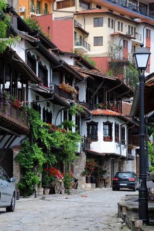 veliko tarnovo: Traditional Bulgarian houses in General Gurko Street in the city of Veliko Tarnovo in Bulgaria