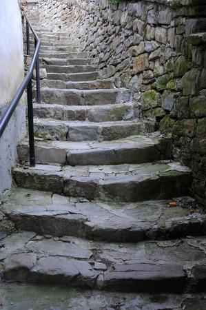 veliko tarnovo: Medieval staircase in the Old Town of Veliko Tarnovo in Bulgaria