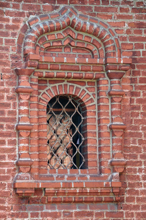 patriarchal: Window of the Krutitsy Patriarchal Metochion in Moscow, Russia Stock Photo