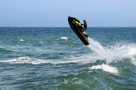 VARNA, BULGARIA - AUGUST 7, 2015: Waverunner in the waters of the Black Sea