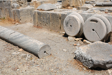 archeological: Archeological site of ancient Gortyn in Crete island, Greece Stock Photo
