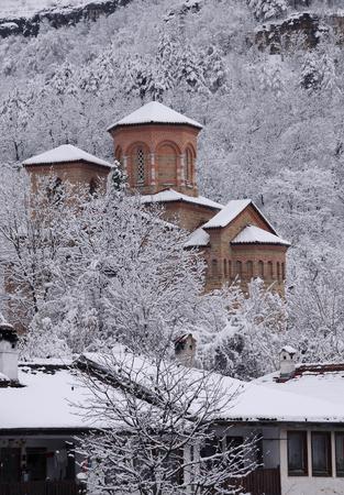 St.Dimitri Church in medieval town of Veliko Tarnovo in Bulgaria in the winter