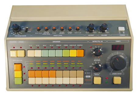 Old school vintage analog drum machine