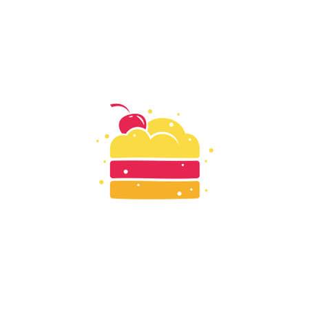 Angel Cake logo / icon design Ilustracja