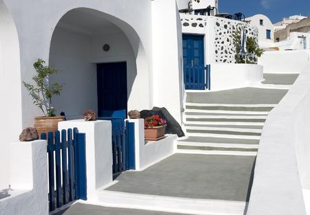 Narrow street on Santorini Island