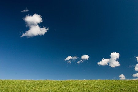 Summer abstract landscape with small white clouds Stock Photo - 1414746
