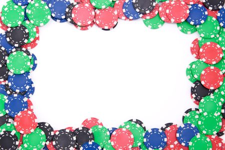 Frame made of poker colorful chips Standard-Bild
