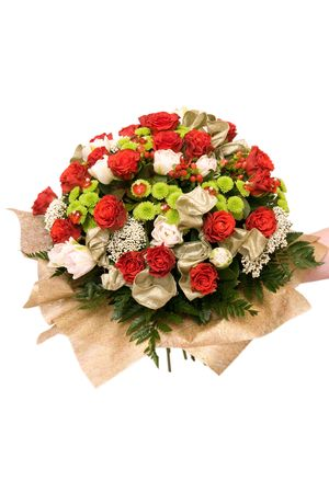 Big colorful bouquet with many flowers photo