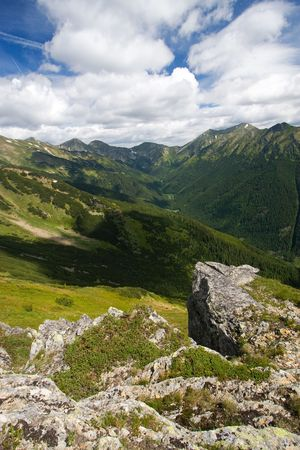 View of West Tatra Mountains in Slovakia Standard-Bild