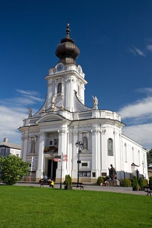 cat�licismo: Iglesia de Wadowice. El lugar de nacimiento de Pope John Paul II