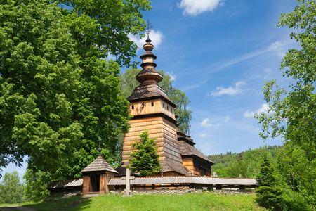 Wooden Orthodox Church in Kotan builded in XIX Century, Poland