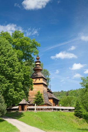 Wooden Orthodox Church in Kotan builded in XIX Century, Poland