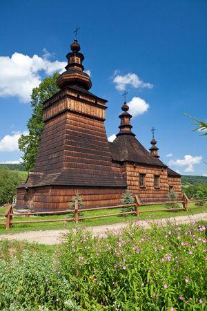 Wooden Orthodox Church in Skwirtne builded in XIX Century, Poland