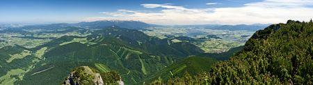Panorama of Velky Chocz and Tatras Mountains