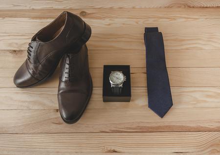 Schuhe und Kleideraccessoires elegant Standard-Bild