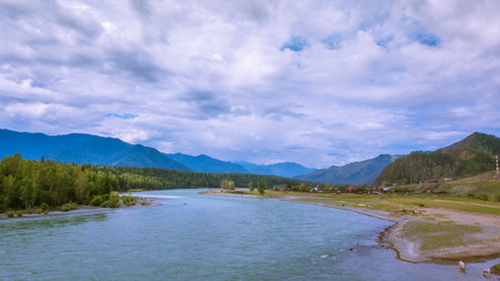 River Katun. Mountain Altai Stockfoto