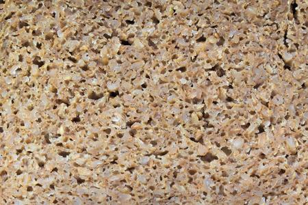 rye bread: Detailed look at wholegrain rye bread texture