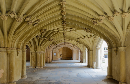 vaulted ceiling: Architecture details - Lincolns Inn vaulted ceiling. The Honourable Society of Lincolns Inn is one of four Inns of Court in London to which barristers of England and Wales belong and where they are called to the Bar.