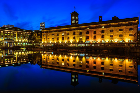 katherine: St Katherine Dock in London at night