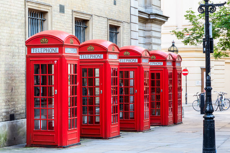 phonebooth: The iconic red telephone booths on Broad Court, Covent Garden, London