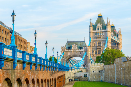 kingdom: Tower Bridge in London from the north bank of river thames Stock Photo