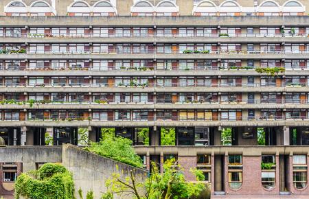 postwar: Brutalist architecture building in the Barbican Complex, London