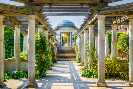 London, UK - June 9, 2016 - Hampstead Pergola and Hill Garden in London, England