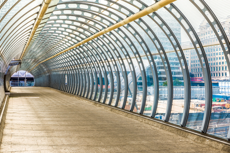 futurist: Poplar pedestrian tunnel footbridge in London