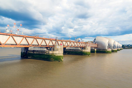 newham: Thames Barrier, located downstream of central London