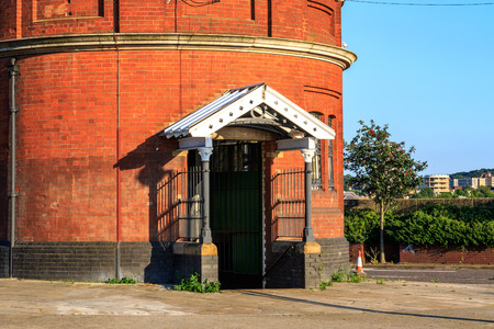 newham: North entrance of Woolwich foot tunnel in East London