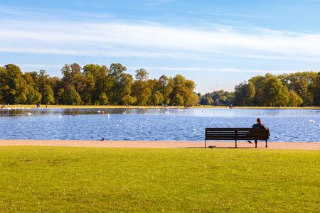 Round Pond in Kensington Gardens, London Reklamní fotografie