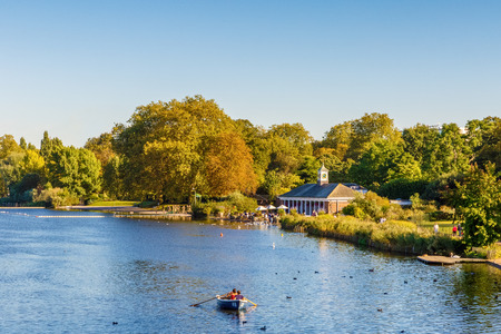 Serpentine lake in Hyde Park, London