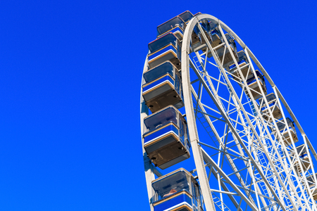 Giant observation wheel in Winter Wonderland, a Christmas fair in London Stock Photo