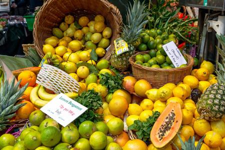 Lemon bergamot on display at Borough Market in London