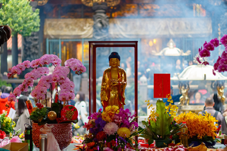 formosa: Buddha statue at Lungshan Temple of Manka in Taiwan