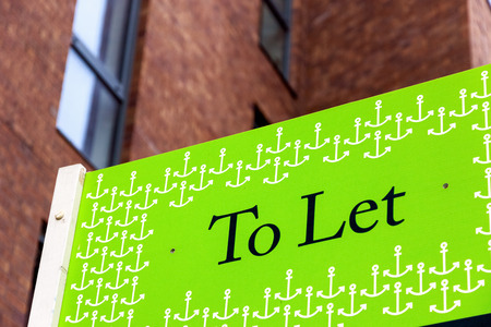 To Let signs outside a English townhouse Archivio Fotografico