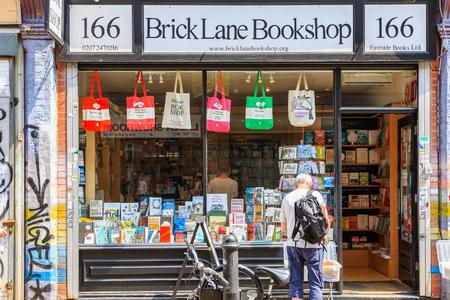 London, UK - June 21, 2017 - Brick lane bookshops, an independent retailer in Shoreditch