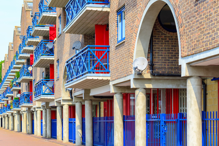 Dockside apartments at Shadwell Basin, part of London Docks in London